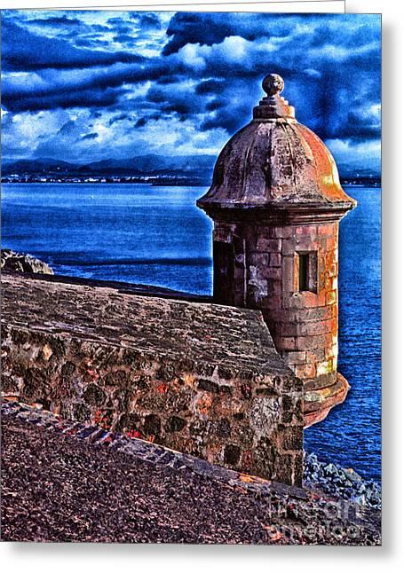 Puerto Rico Digital Greeting Cards - El Morro Fortress Greeting Card by Thomas R Fletcher
