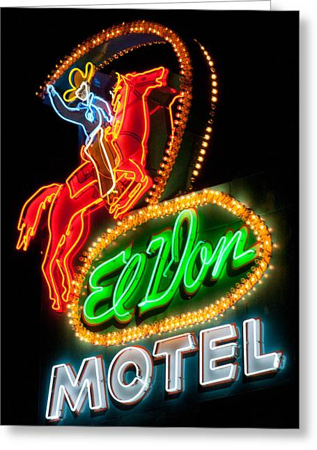 Old Signage Greeting Cards - El Von--Albuquerque Greeting Card by Matthew Bamberg