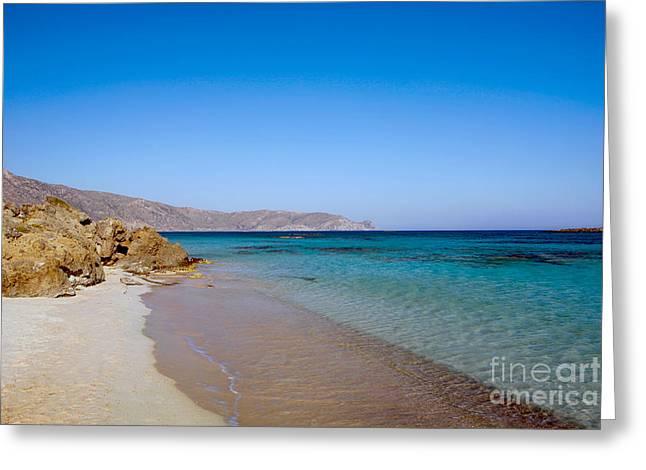 Subtropical Greeting Cards - Elafonissos beach Greeting Card by Paul Cowan