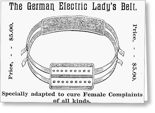 Common Sense Greeting Cards - Electric Belt Ad Greeting Card by Granger