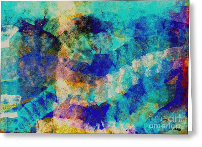 Abstract Digital Pastels Greeting Cards - Electric blue Greeting Card by Julio Haro