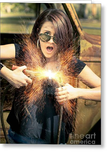 Electric Shock Greeting Card by Jorgo Photography - Wall Art Gallery