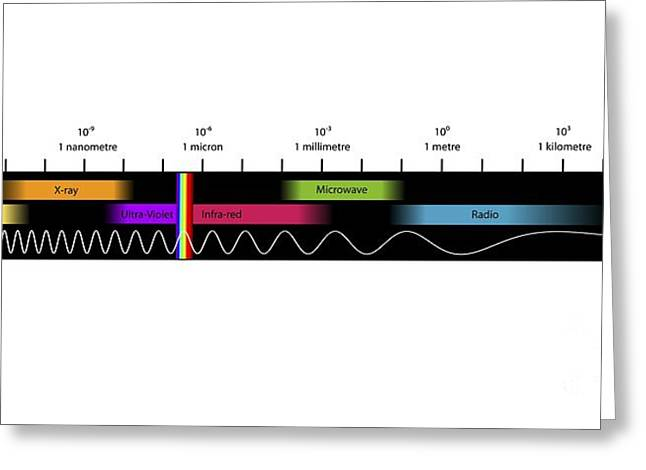 Electromagnetic Spectrum Greeting Cards - Electromagnetic Spectrum, Artwork Greeting Card by Equinox Graphics
