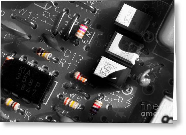 Component Greeting Cards - Electronics 2 Greeting Card by Michael Eingle