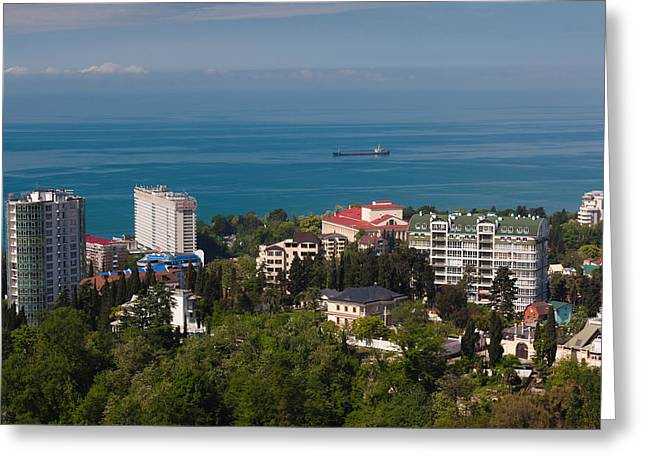 Elevated Views Greeting Cards - Elevated City View From The Arboretum Greeting Card by Panoramic Images