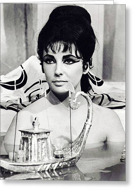 Recently Sold -  - 1960 Greeting Cards - Elizabeth Taylor in Cleopatra  Greeting Card by Silver Screen