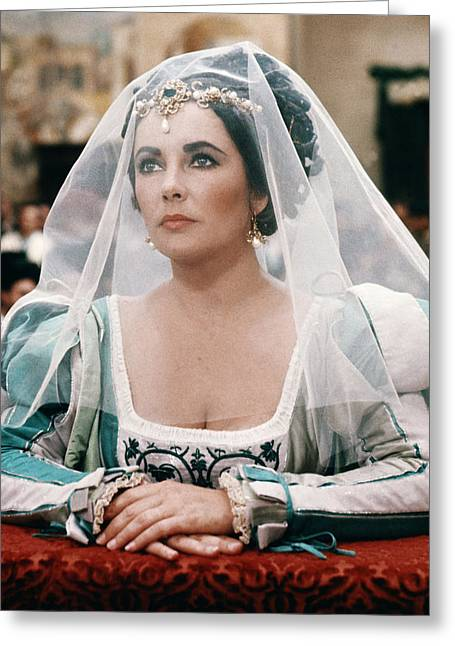 Tame Greeting Cards - Elizabeth Taylor in The Taming of the Shrew  Greeting Card by Silver Screen