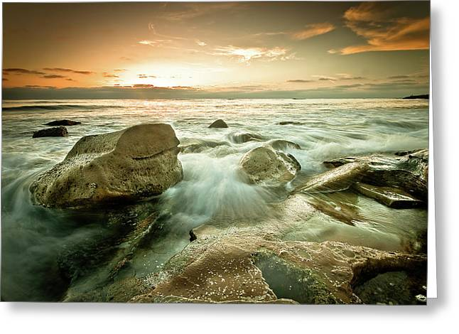 Best Ocean Photography Greeting Cards - Ellipsis Greeting Card by Ryan Weddle