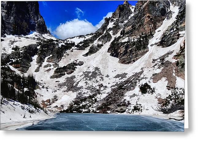 Emerald Lake In Rocky Mountain National Park Greeting Card by Dan Sproul
