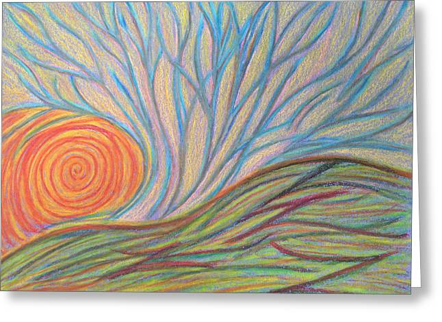 Transformations Pastels Greeting Cards - Coming to be Seen Greeting Card by Jamie Rogers