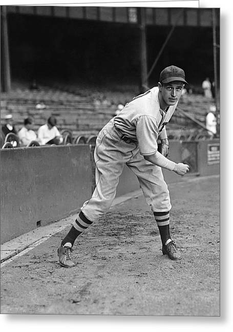 Boston Red Sox Greeting Cards - Emerson Dickman Greeting Card by Retro Images Archive