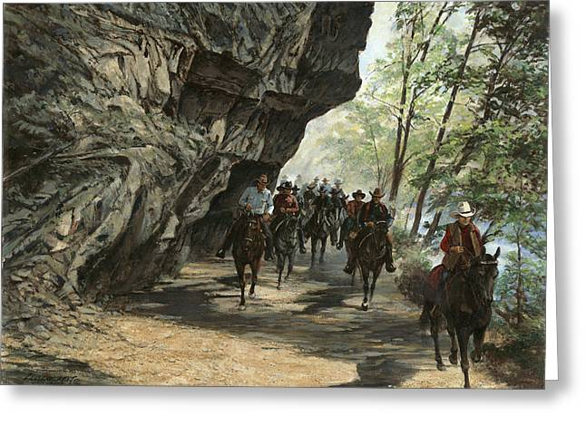 Trail Ride Greeting Cards - Eminence Trail Ride Greeting Card by Don  Langeneckert