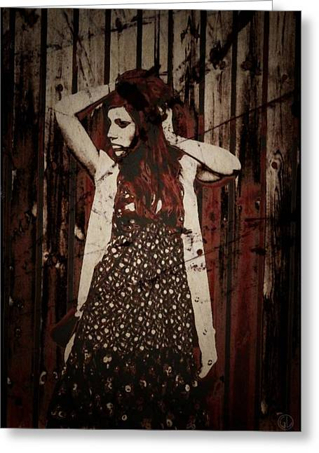 Photos With Red Digital Greeting Cards - Emma Greeting Card by Gun Legler