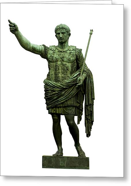White Photographs Greeting Cards - Emperor Caesar Augustus Greeting Card by Fabrizio Troiani