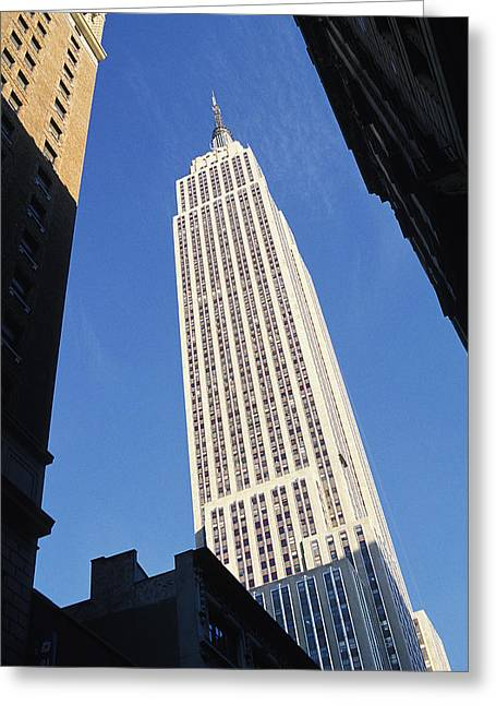 Lovely Photographs Greeting Cards - Empire State Building Greeting Card by Jon Neidert