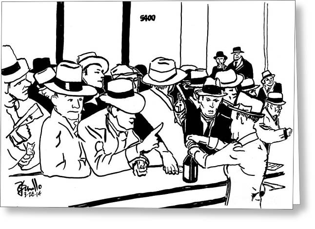 Tommy Hat Greeting Cards - End Of Prohibition Greeting Card by Andooga Design