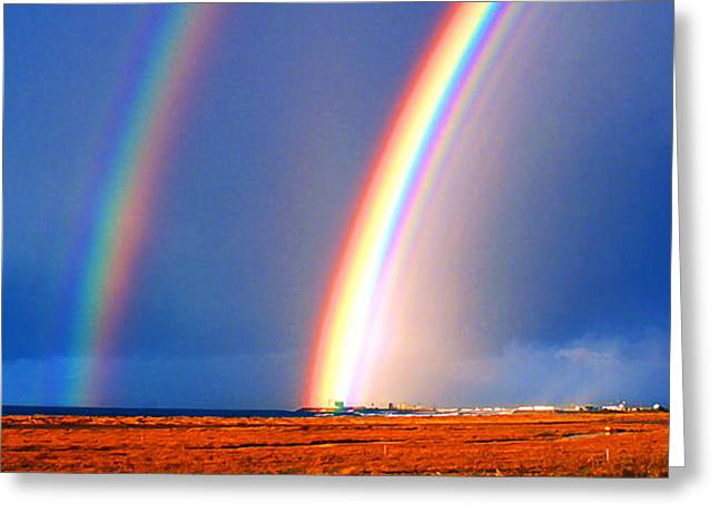 End of the Rainbow Greeting Card by Ron Regalado