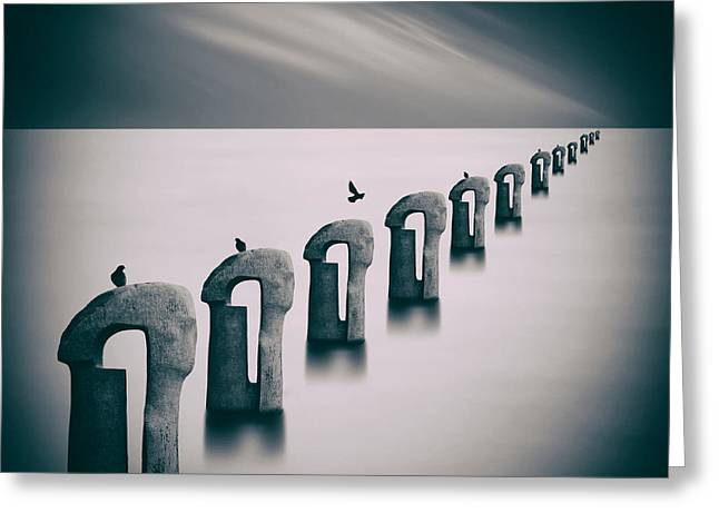 Concept Photographs Greeting Cards - Endless Fog Greeting Card by Mountain Dreams