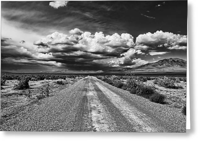 Gravel Road Greeting Cards - Endless Gravel Road Greeting Card by Mountain Dreams