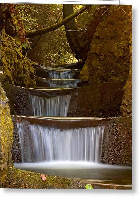 Flowing Greeting Cards - Endless Waterfall Greeting Card by Lara Ellis
