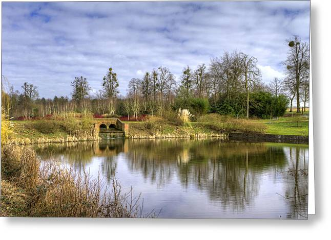 English Countryside Scene On A Stormy Day Greeting Card by Fizzy Image