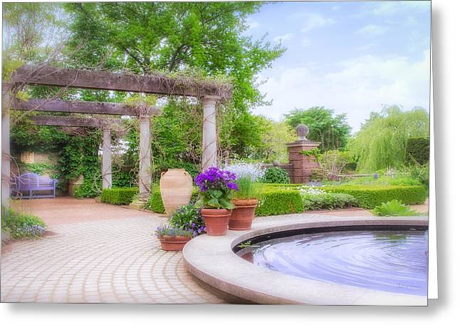 Chicago Botanic Garden Greeting Cards - English Garden Greeting Card by Julie Palencia