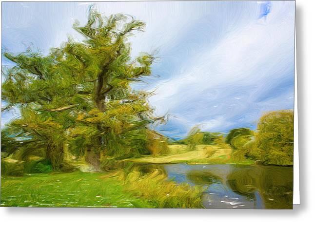 English Landscape Greeting Card by Tom Gowanlock