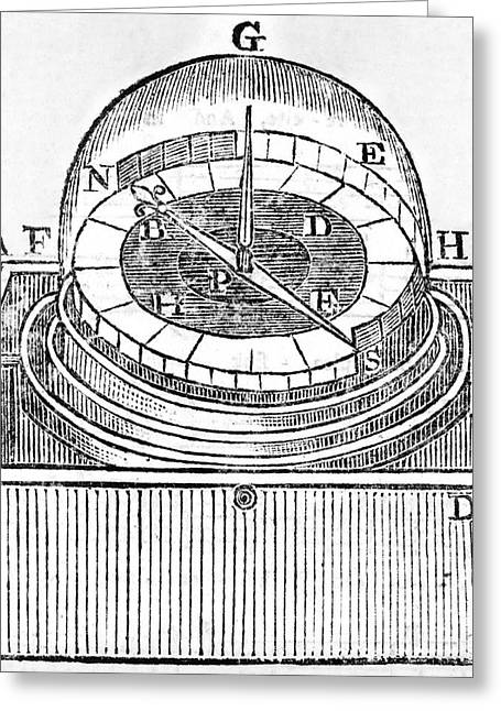 1750s Greeting Cards - Engraving Of An Early Azimuth Compass Greeting Card by Middle Temple Library