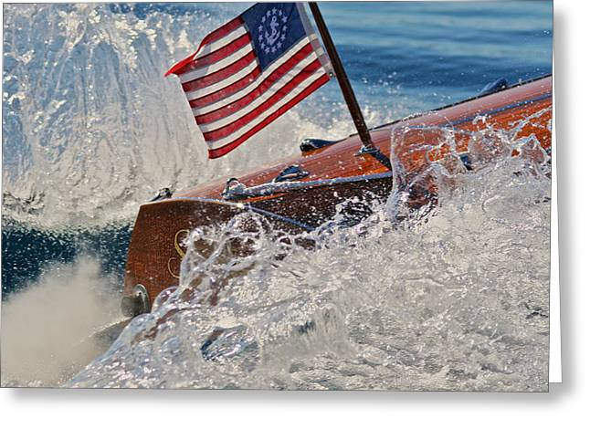 Ensign Greeting Cards - Ensign and Wake Greeting Card by Steven Lapkin