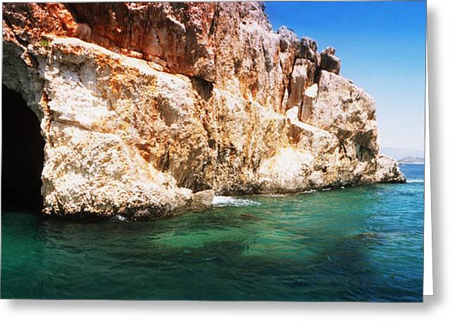 Pirates Photographs Greeting Cards - Entrance Of The Pirates Cave Greeting Card by Panoramic Images
