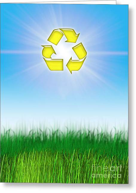 Responsible Greeting Cards - Environmental Recycling, Conceptual Greeting Card by Victor Habbick Visions