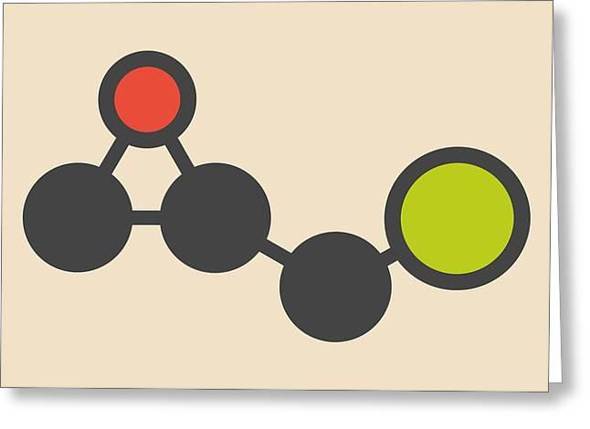 Epoxy Resin Molecule Greeting Card by Molekuul
