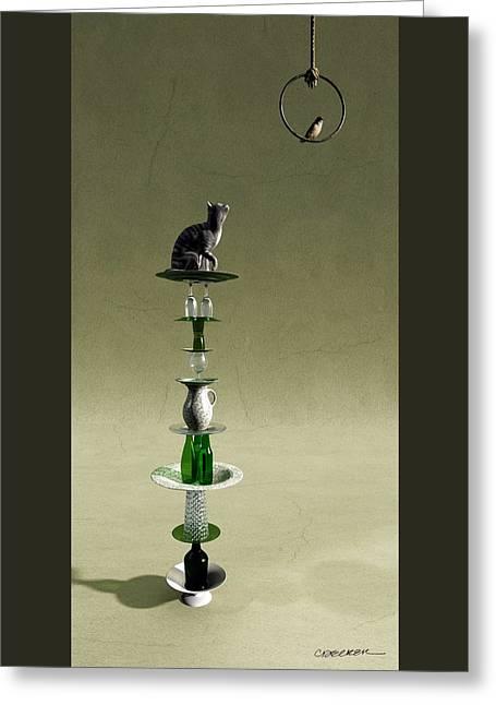 Equilibrium IIi Greeting Card by Cynthia Decker