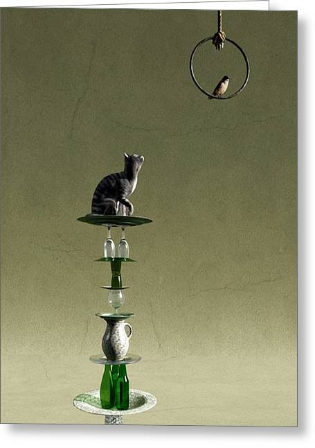 Rendering Greeting Cards - Equilibrium III Greeting Card by Cynthia Decker
