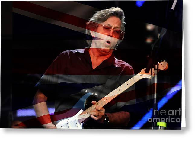 Image Greeting Cards - Eric Clapton Greeting Card by Marvin Blaine