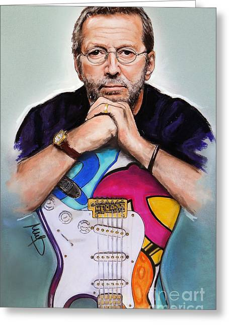 Eric Greeting Cards - Eric Clapton Greeting Card by Melanie D