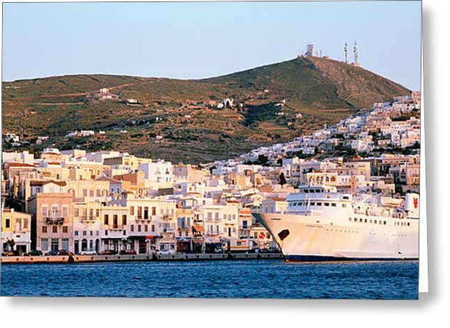 Capitol Greeting Cards - Ermoupoli, Syros, Greece Greeting Card by Panoramic Images
