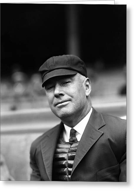 Baseball Cap Greeting Cards - Ernest Quigley Greeting Card by Retro Images Archive