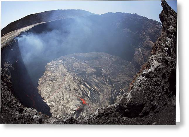 Most Viewed Photographs Greeting Cards - Erta Ale volcano, Congo Greeting Card by Science Photo Library