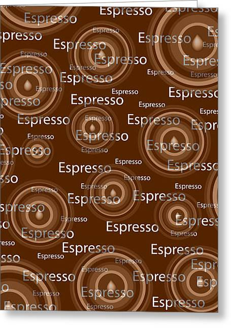 Art Decor Greeting Cards - Espresso Greeting Card by Frank Tschakert