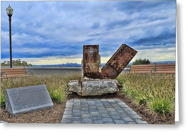Terrorism Greeting Cards - Essex County N J 9-11 Memorial 5 Greeting Card by Allen Beatty
