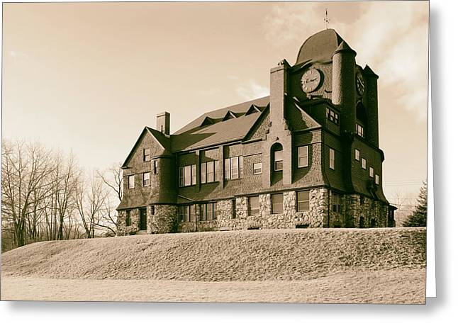 1987 Photographs Greeting Cards - Essex Town Hall 1987 Greeting Card by Mountain Dreams