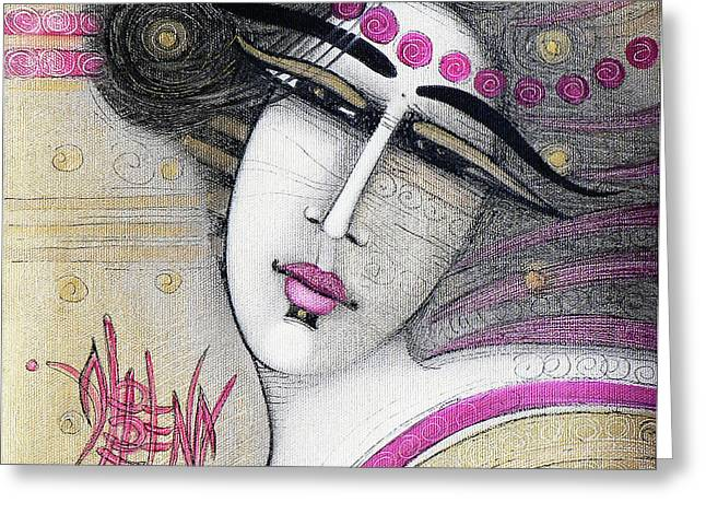 Figuratif Greeting Cards - Eternity Greeting Card by Albena Vatcheva
