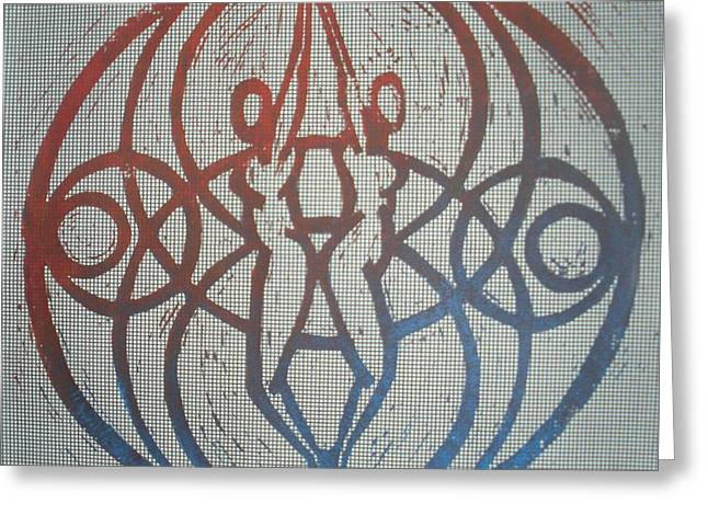 Equality Reliefs Greeting Cards - Eternity Unity Greeting Card by April Childs