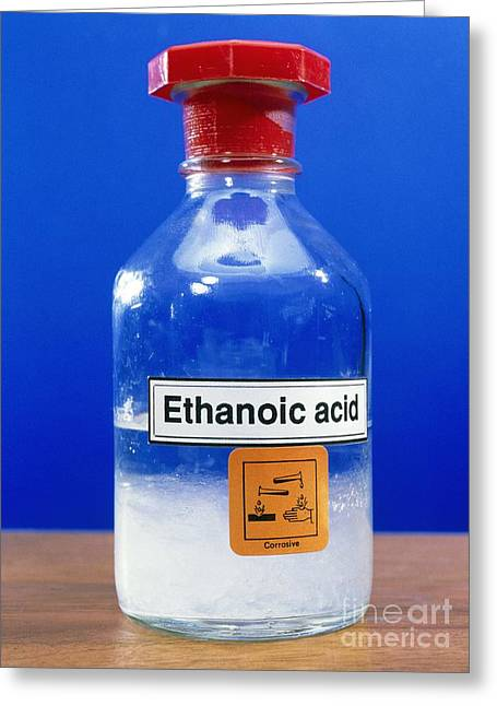 Dilute Greeting Cards - Ethanoic Acid Greeting Card by Andrew Lambert Photography