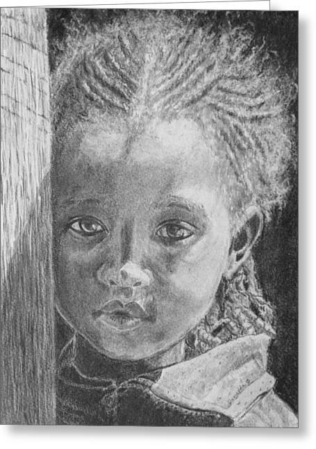 Dread Locks Greeting Cards - Ethiopias Future Greeting Card by Quwatha Valentine