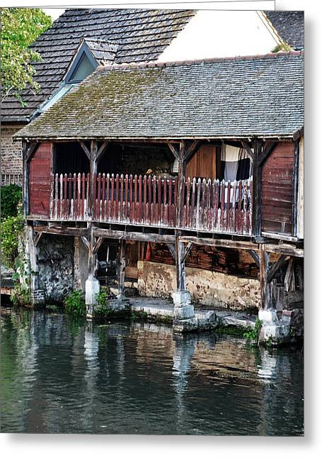 Eure Greeting Cards - Eure river and old fulling mills in Chartres Greeting Card by RicardMN Photography