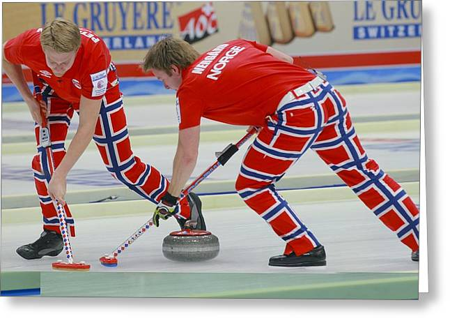 21st Greeting Cards - European Curling Championships, Russia Greeting Card by Science Photo Library