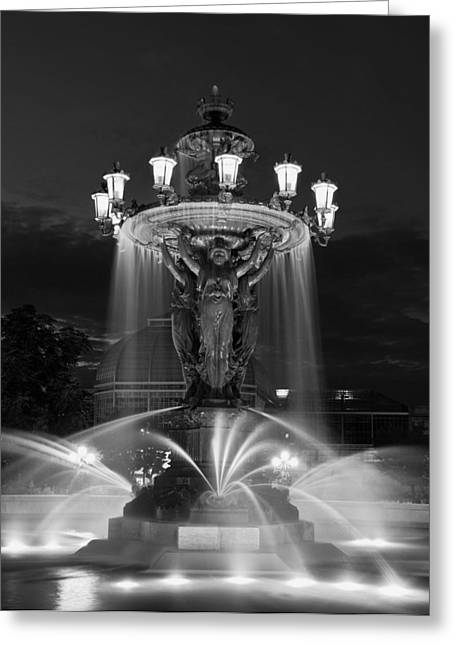 Glowing Water Greeting Cards - Evening Cascade Greeting Card by Mountain Dreams