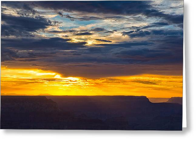Amazing Sunset Greeting Cards - Evening Glow at the Grand Canyon Greeting Card by John Bailey
